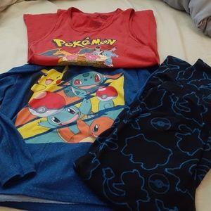 Pokemon big boy pajamas bundle